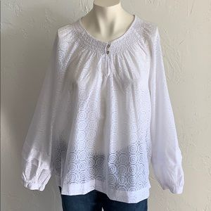 Tommy Hilfiger   NWT White Monterey Casual Blouse